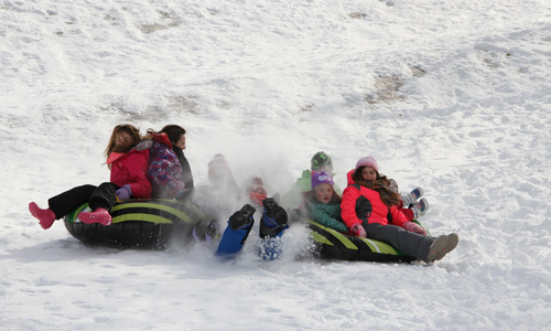Sledding at Cold Spring Resort